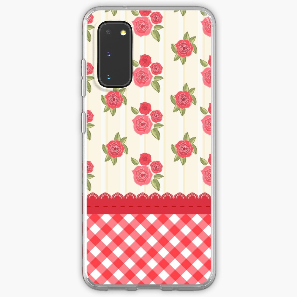 Beautiful Red Rose Shabby Wallpaper Case Skin For Samsung Galaxy By Budis Redbubble
