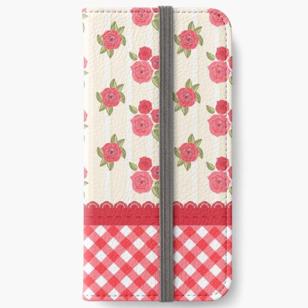 Beautiful Red Rose Shabby Wallpaper iPhone Wallet