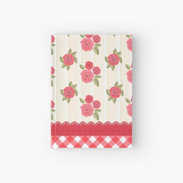 Beautiful Red Rose Shabby Wallpaper Hardcover Journal