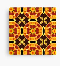 Sixties Abstract Pattern Canvas Print