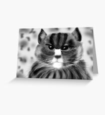 Angry Cat.... Greeting Card
