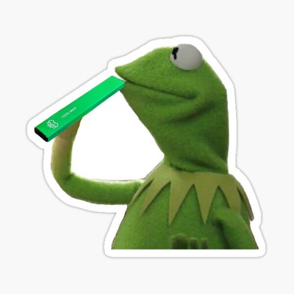 Kermit hitting puff bar Sticker