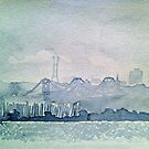 SF Skyline Watercolor by seanh