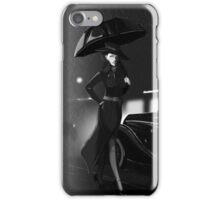 Rarity investigate pin-up black and white  iPhone Case/Skin