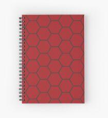 Honeycomb - Red Spiral Notebook