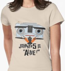 Johnny 5 is ALIVE! Women's Fitted T-Shirt
