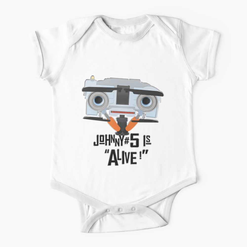 Johnny 5 is ALIVE! Baby One-Piece