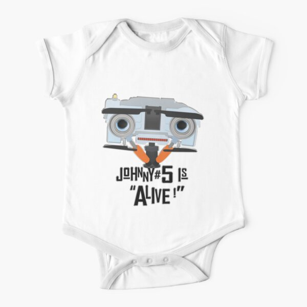 Johnny 5 is ALIVE! Short Sleeve Baby One-Piece