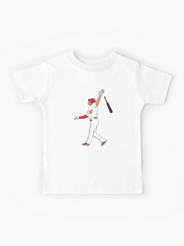 Baseball and Bat American Flag Toddler T-Shirt Team Player Gift Idea