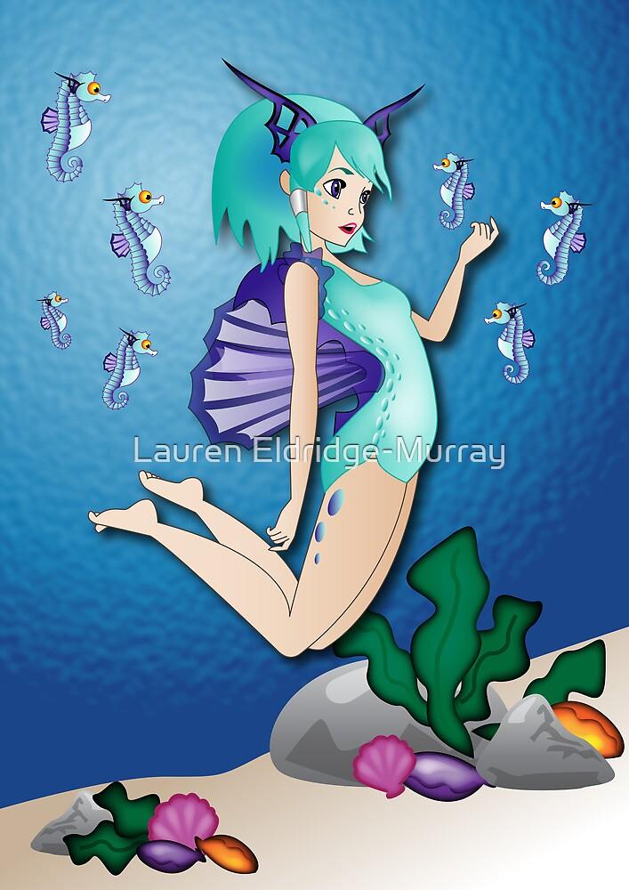 Twisted - Wild Tales: Nereida and the seahorse by Lauren Eldridge-Murray