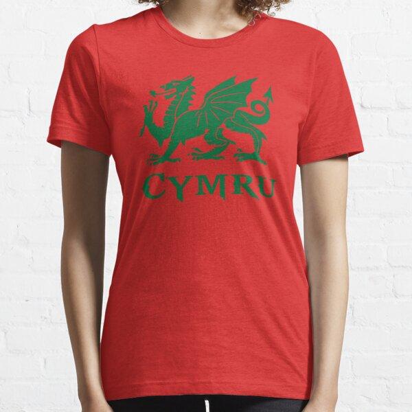 cymru wales welsh cardiff dragon Essential T-Shirt