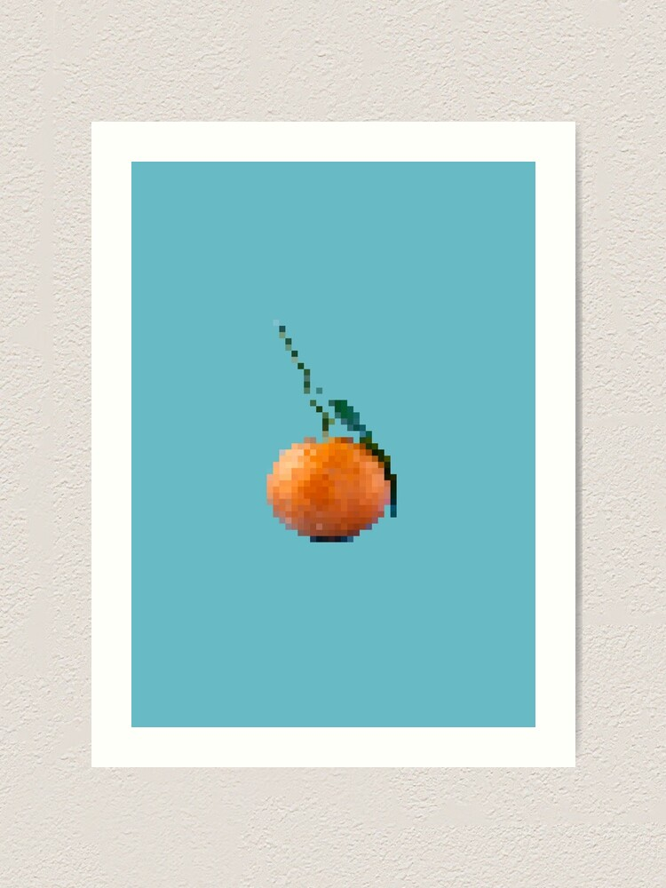 Amazing Pixel Art Orange Fruit Art Print By Artyducky Redbubble