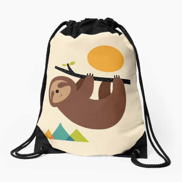 Keep Calm And Live Slow Drawstring Bag
