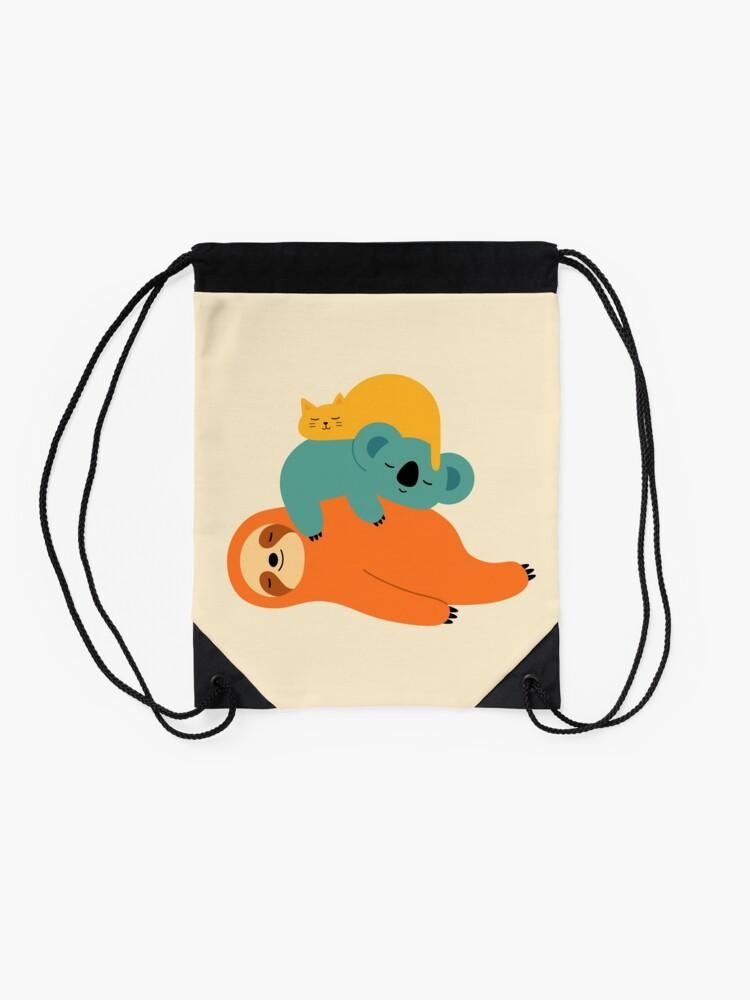 Alternate view of Being Lazy Drawstring Bag