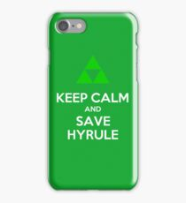 Keep Calm and Save Hyrule - Green iPhone Case/Skin