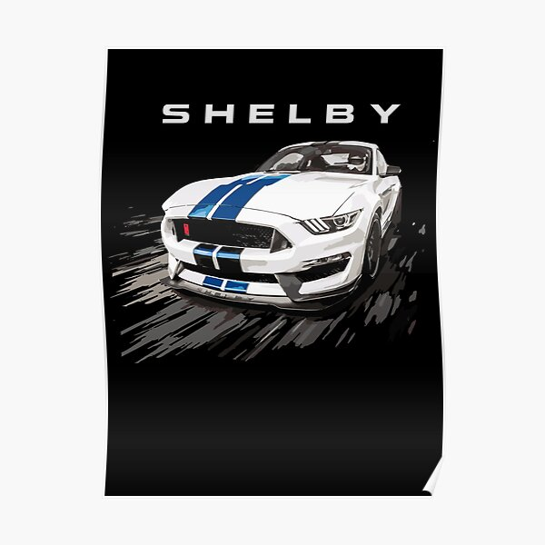 2016 2017 2018 Shelby GT350R Mustang Car-toon Wall Art Graphic Decal Sticker