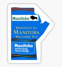 Manitoba Welcomes You, Road Sign, Canada Sticker