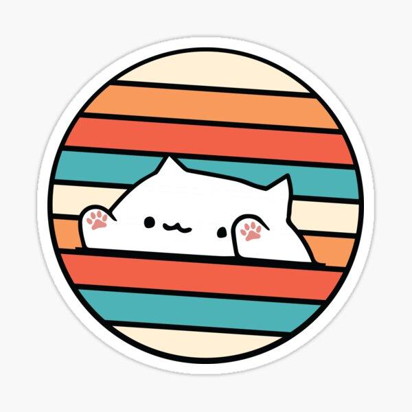 Retro vintage bongo cat Sticker