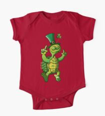 Saint Patrick's Day Turtle One Piece - Short Sleeve