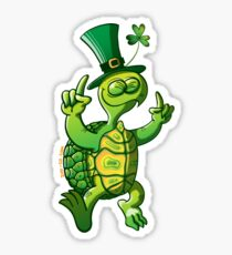 Saint Patrick's Day Turtle Sticker