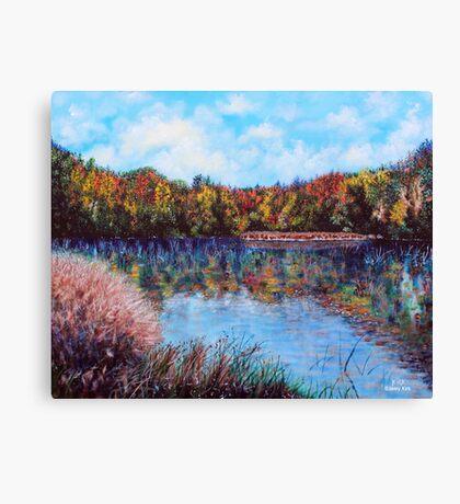 'The Lake at Crowder's Mt.' Canvas Print