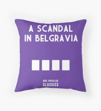 BBC Sherlock - A Scandal in Belgravia Minimalist Throw Pillow