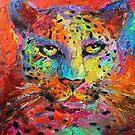 Vibrant Contemporary Leopard painting Svetlana Novikova by Svetlana  Novikova