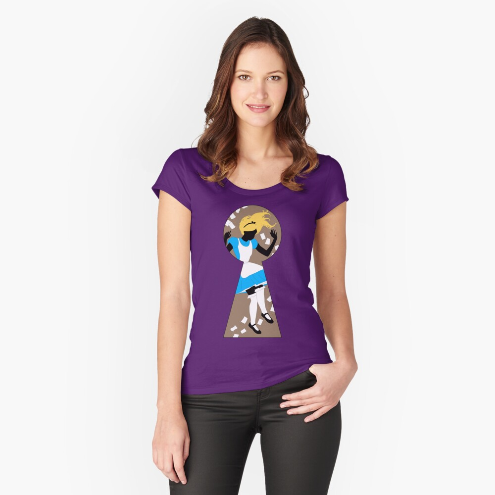 Alice In Wonderland Women's Fitted Scoop T-Shirt Front