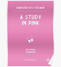 BBC Sherlock - A Study in Pink Minimalist Poster