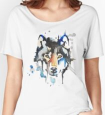 Watercolour Wolf Women's Relaxed Fit T-Shirt