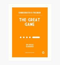 BBC Sherlock - The Great Game Minimalist Art Print