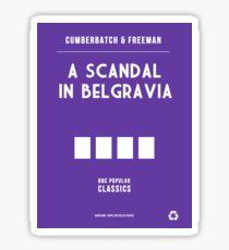 BBC Sherlock - A Scandal in Belgravia Minimalist Sticker