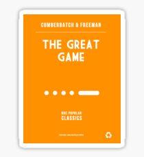 BBC Sherlock - The Great Game Minimalist Sticker
