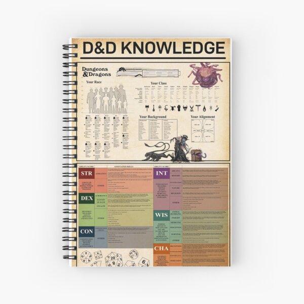 D&D DnD Knowledge Spiral Notebook