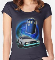 Race against time! Women's Fitted Scoop T-Shirt