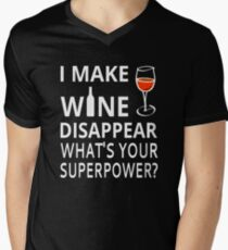 I Make Wine Disappear. What's Your Superpower? Men's V-Neck T-Shirt