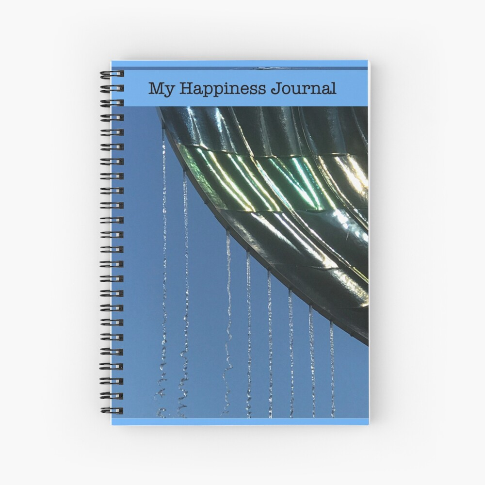 My Happiness Journal / Whale Fountain Spiral Notebook