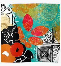 Bali II Abstract Fine Art Collage Poster