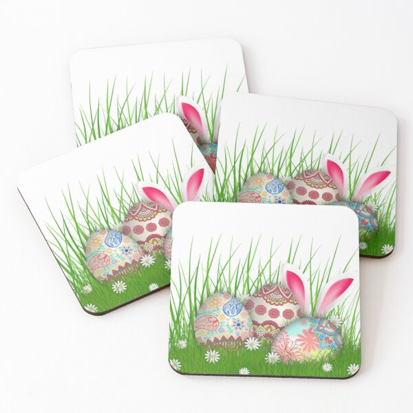 Easter Bunny Coasters (Set of 4)