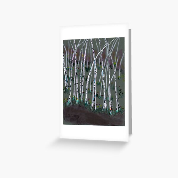 spring birches Greeting Card