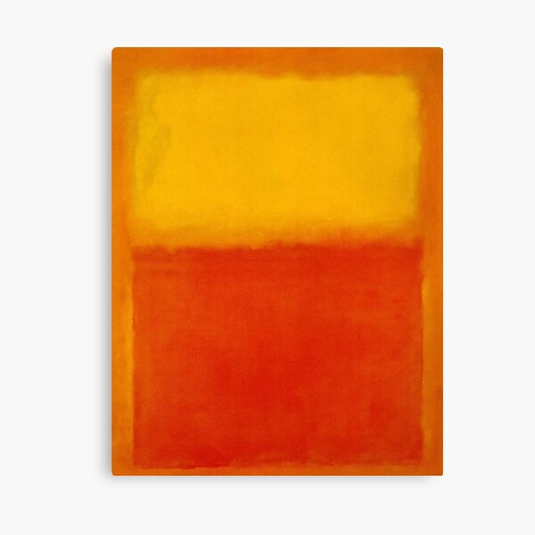 Mark Rothko - Red and Yellow (Abstract Expressionist Painting / Art) Canvas Print