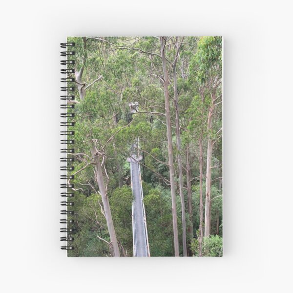 High in the tree canopy at Otway Fly, Victoria, Australia Spiral Notebook