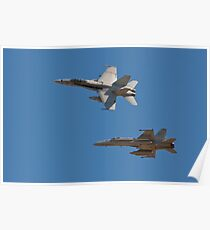 F 18 going into the Break Poster