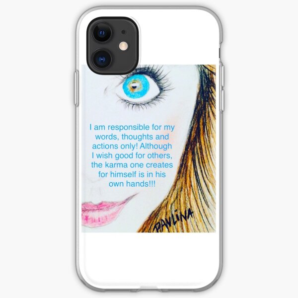 Positive self creation iPhone Soft Case