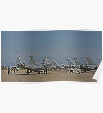 F 18 Jets on the Ramp Poster