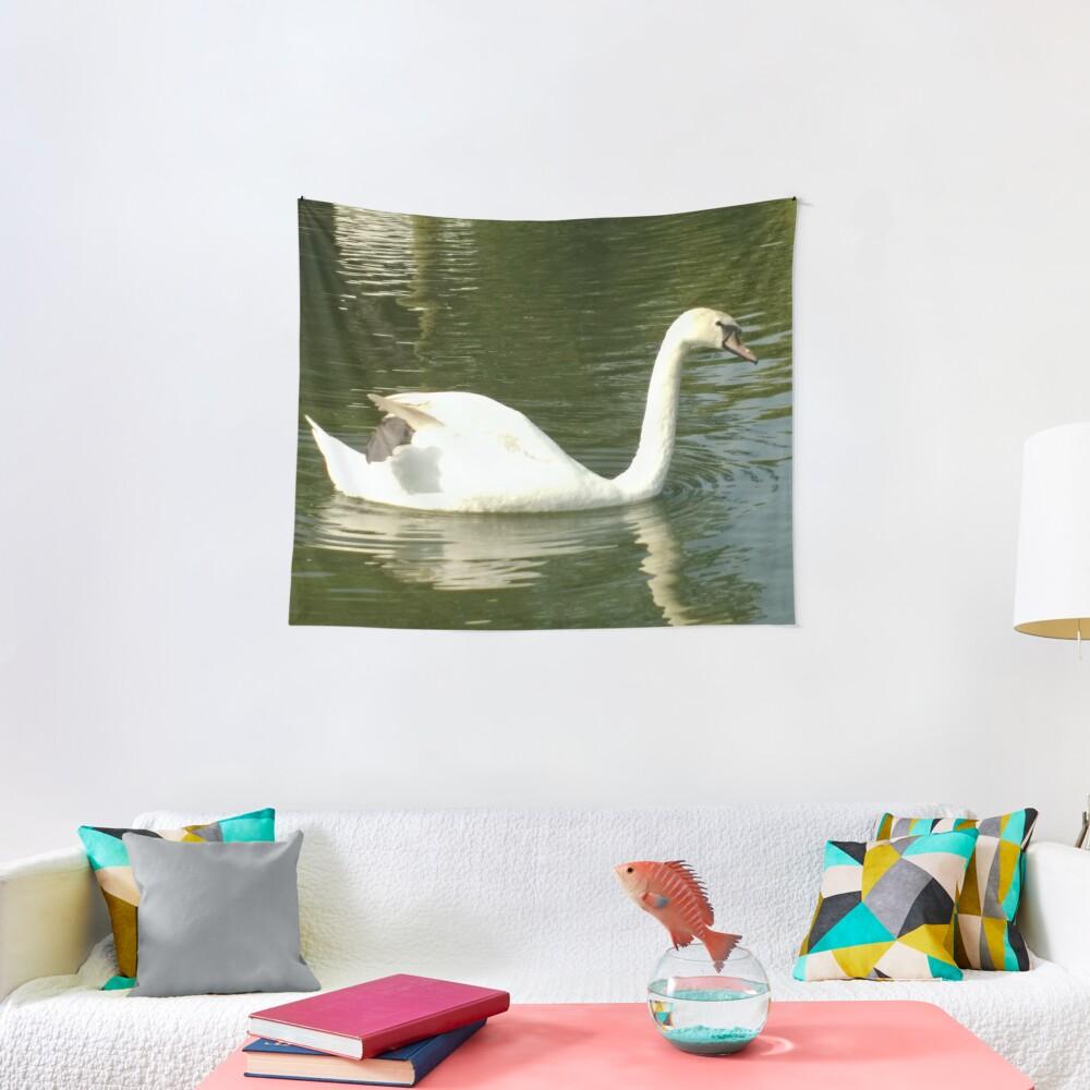 Merch #53 -- Swan - Shot 11 (Pearson Park) Tapestry