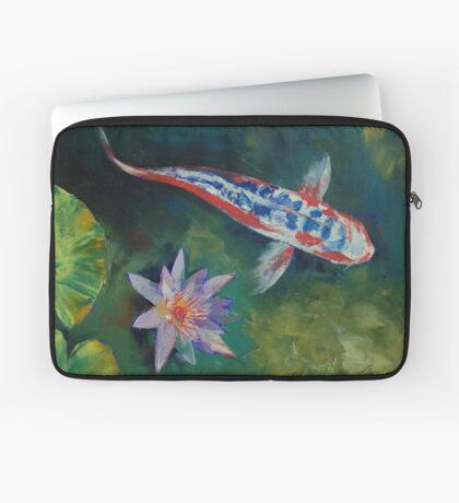 Shusui Koi and Water Lily Laptop Sleeve