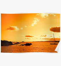 wild atlantic way sunset view ireland Poster