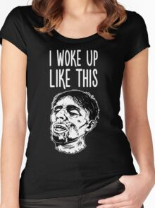 I Woke Up Like This Zombie Women's Fitted Scoop T-Shirt