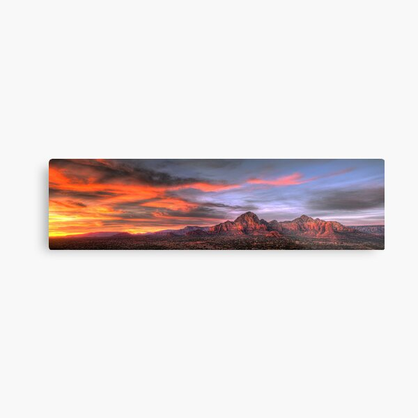 Sedona Sunset Panorama Metal Print
